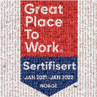 JW er sertifisert som Great Place To Work
